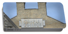 Temple College Portable Battery Charger by Bill Cannon