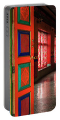 Portable Battery Charger featuring the photograph Temple Door by Alexey Stiop