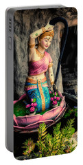 Temple Lady Statue Portable Battery Charger