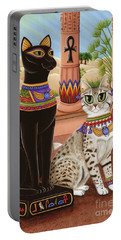 Temple Of Bastet - Bast Goddess Cat Portable Battery Charger