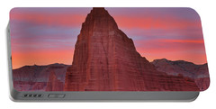 Temple Of The Sun And Moon At Sunrise At Capitol Reef National Park Portable Battery Charger