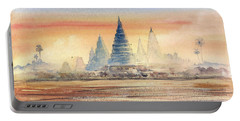 Temples In The Dusk Portable Battery Charger