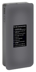 Ten Commandments Portable Battery Charger
