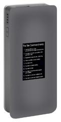 Ten Commandments Portable Battery Charger