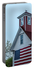 Tenants Harbor Wayside Inn Portable Battery Charger by Daniel Hebard