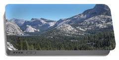 Tenaya Lake And Surrounding Mountains Yosemite National Park Portable Battery Charger