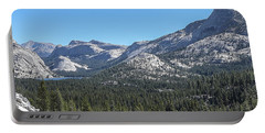Tenaya Lake And Surrounding Mountains Yosemite National Park Portable Battery Charger