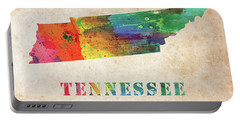 Tennessee Colorful Watercolor Map Portable Battery Charger