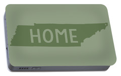 Portable Battery Charger featuring the digital art Tennessee Home Green by Heather Applegate