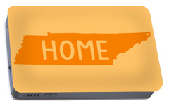 Portable Battery Charger featuring the digital art Tennessee Home Orange by Heather Applegate
