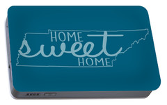 Portable Battery Charger featuring the digital art Tennessee Home Sweet Home by Heather Applegate