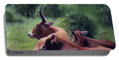Tennessee Longhorn Steers Portable Battery Charger