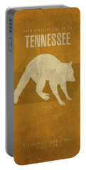 Tennessee State Facts Minimalist Movie Poster Art Portable Battery Charger