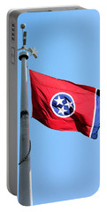 Tennessee State Flag Portable Battery Charger by Kristin Elmquist