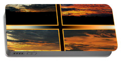 Portable Battery Charger featuring the photograph Tennessee Sunset by EricaMaxine  Price