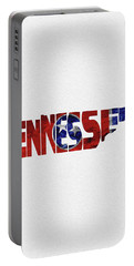 Tennessee Typographic Map Flag Portable Battery Charger
