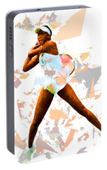 Portable Battery Charger featuring the painting Tennis 113 by Movie Poster Prints