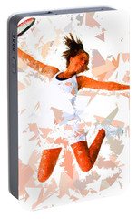 Portable Battery Charger featuring the painting Tennis 115 by Movie Poster Prints