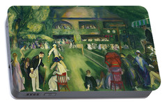Tennis At Newport Portable Battery Charger by George Bellows