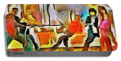 Portable Battery Charger featuring the painting Tension by Wayne Pascall