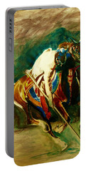 Tent Pegging Sport Portable Battery Charger by Khalid Saeed
