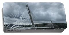 Terenez Bridge I Portable Battery Charger by Helen Northcott