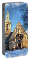 Portable Battery Charger featuring the digital art Terijoki Church by Kai Saarto