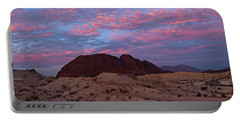 Portable Battery Charger featuring the painting Terlingua Sunset by Dennis Ciscel