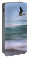 Portable Battery Charger featuring the photograph Tern Flight Vert by Laura Fasulo