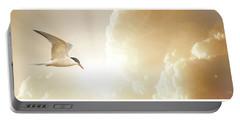 Tern In Flight, Spiritual Light Of Dusk Portable Battery Charger
