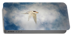 Tern In Flight With Fish Portable Battery Charger