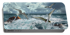Terns In The Surf Portable Battery Charger
