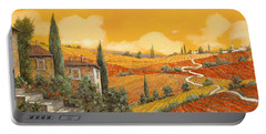 terra di Siena Portable Battery Charger by Guido Borelli
