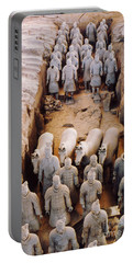 Portable Battery Charger featuring the photograph Terracotta Army by Heiko Koehrer-Wagner