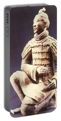 Portable Battery Charger featuring the photograph Terracotta Soldier by Heiko Koehrer-Wagner