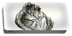 Terrier Sleeping - 1 Portable Battery Charger by Shirley Heyn