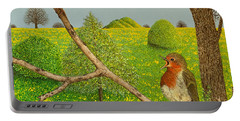 Territorial Rights Portable Battery Charger by Pat Scott