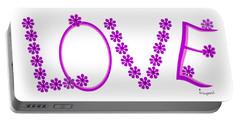 1281 -  Love    Colour Violet Portable Battery Charger