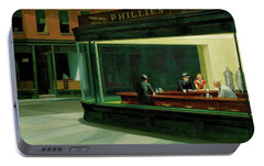 Portable Battery Charger featuring the photograph Test Tavern by Edward Hopper