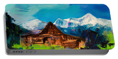 Teton Barn  Portable Battery Charger by Elise Palmigiani