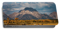 Teton Horse Ranch Portable Battery Charger by Darren White