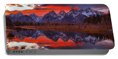 Teton Orange Sunset Burst Portable Battery Charger
