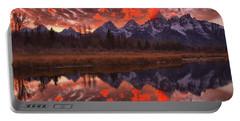 Teton Orange Sunset Skies Portable Battery Charger