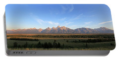 Teton Range After Sunrise Portable Battery Charger