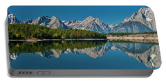 Portable Battery Charger featuring the photograph Teton Reflections by Gary Lengyel