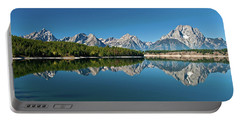 Portable Battery Charger featuring the photograph Teton Reflections II by Gary Lengyel
