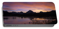Portable Battery Charger featuring the photograph Teton Sunset by Gary Lengyel
