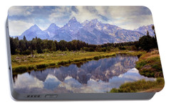 Portable Battery Charger featuring the photograph Tetons At The Landing 1 by Marty Koch