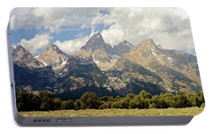Portable Battery Charger featuring the photograph Tetons Grande 2  by Marty Koch