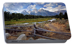 Portable Battery Charger featuring the photograph Tetons Grande 3 by Marty Koch